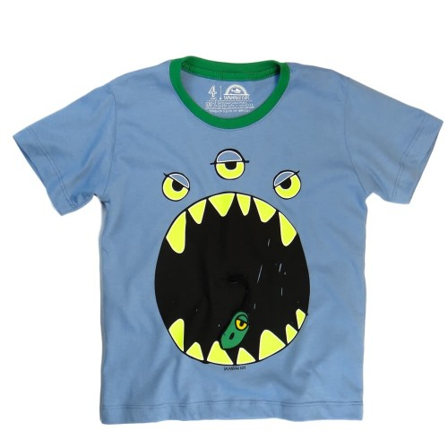 Camiseta Infantil Monstro Azul - Savannah Kids
