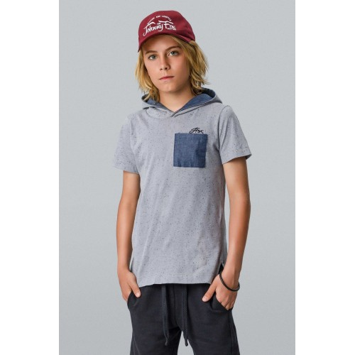 Camiseta Infantil Botonê com Capuz - Johnny Fox