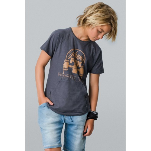 Camiseta Infantil com Bolso - Johnny Fox