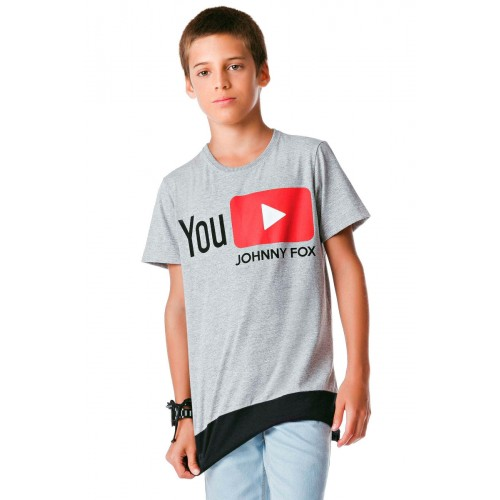 Camiseta Infantil You Tube - Johnny Fox