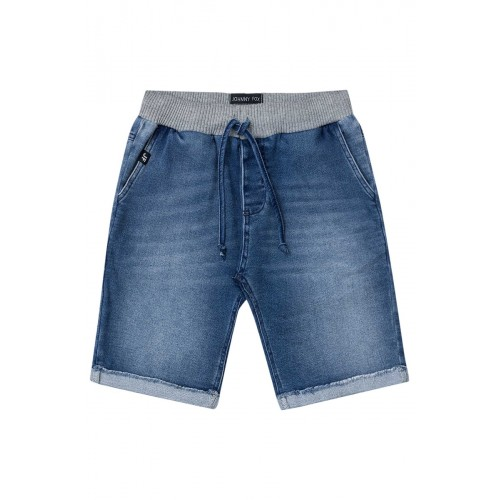 Bermuda Infantil Moletom Jeans - Johnny Fox
