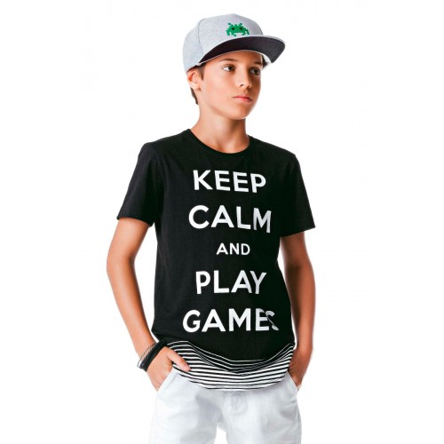 Camiseta Infantil Keep Calm- Johnny Fox