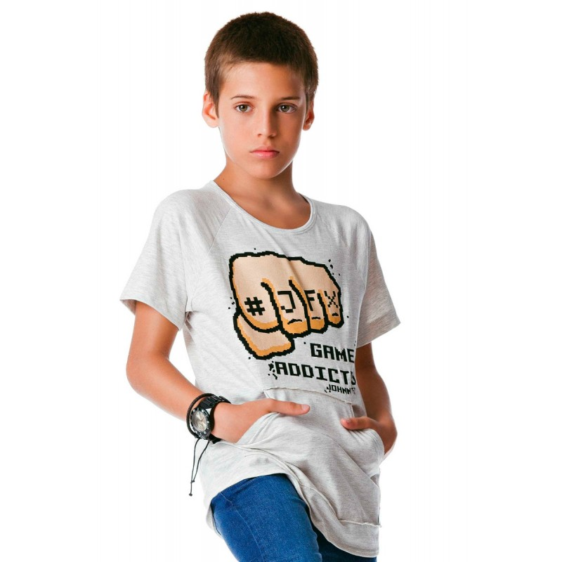 Camiseta Infantil Mescla Games - Johnny Fox