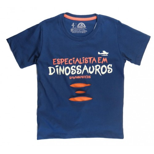 Camiseta Infantil Dino Especialista - Savannah Kids